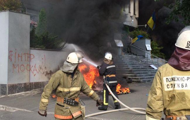 """Здание """"Интера"""" поджигали дважды – ГСЧС"""