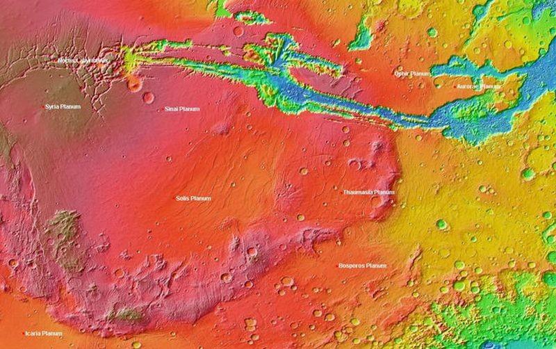 Астрономы предположили, что на одном из плато Марса может быть жизнь