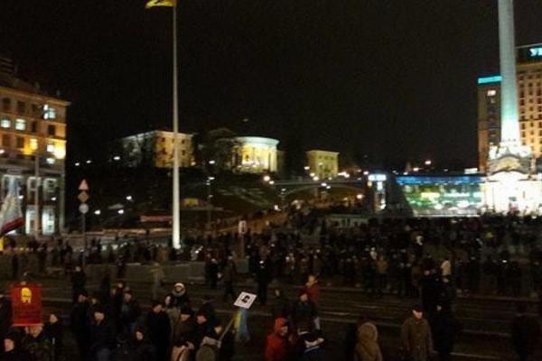 Годовщина Майдана в Киеве: участники Вече дали власти срок выполнить их требования