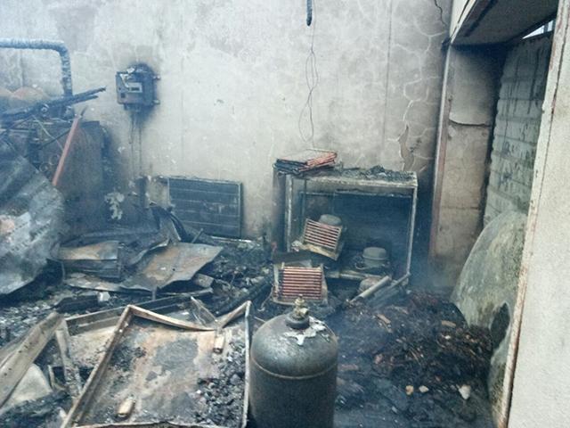 В СВТ «Металлург» горел гараж