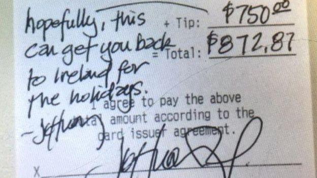 "Сытый мужчина – добрый мужчина. В Техассе в ресторане клиент оставил $750 ""на чай"""