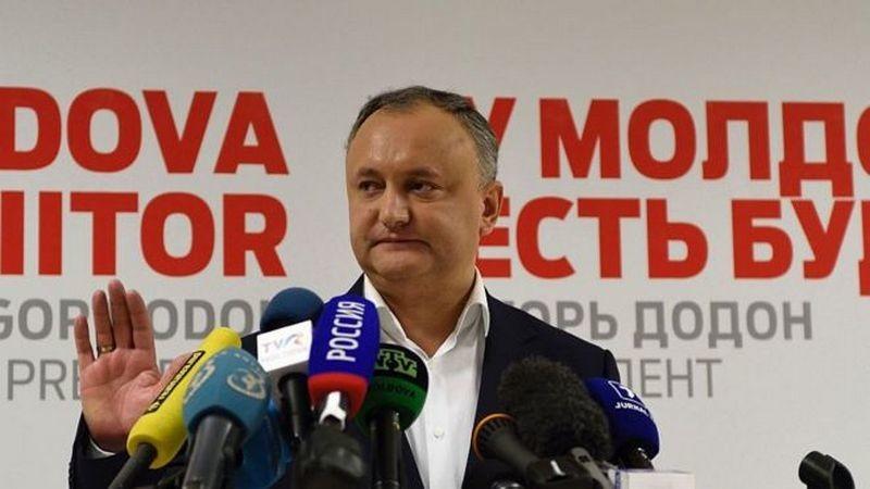 Кортеж президента Молдовы попал в ДТП