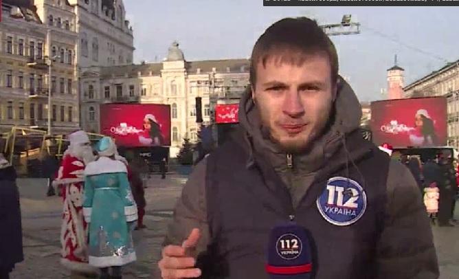 По Киеву проехали байкеры-Деды Морозы. Дети в восторге