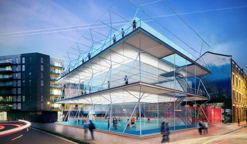 Многоуровневые мобильные футбольные поля: британские архитекторы решили проблему нехватки свободного пространства для спорта в мегаполисах