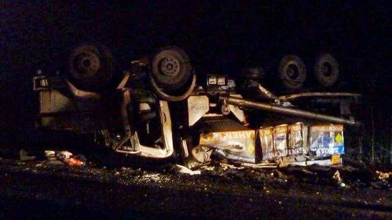 В Кировоградской области перевернулся грузовик с взрывчаткой