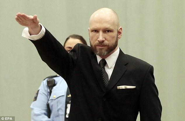 Что-то не так с их системой наказания: экстремист-убийца Брейвик вскинул руку в нацистском приветствии в суде по его иску к норвежскому правительству