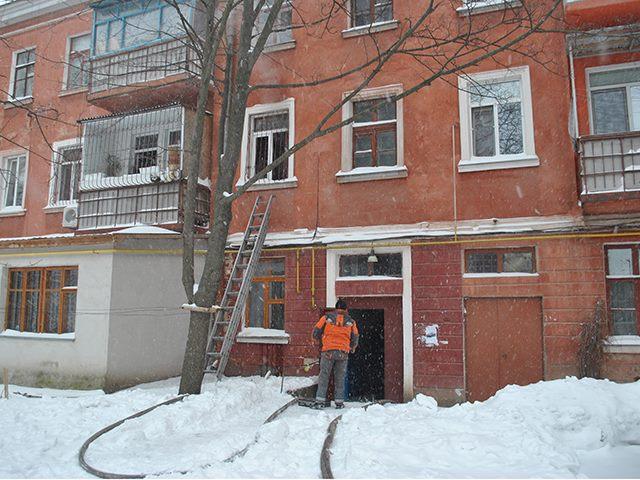 В Николаеве в Рождество горела квартира
