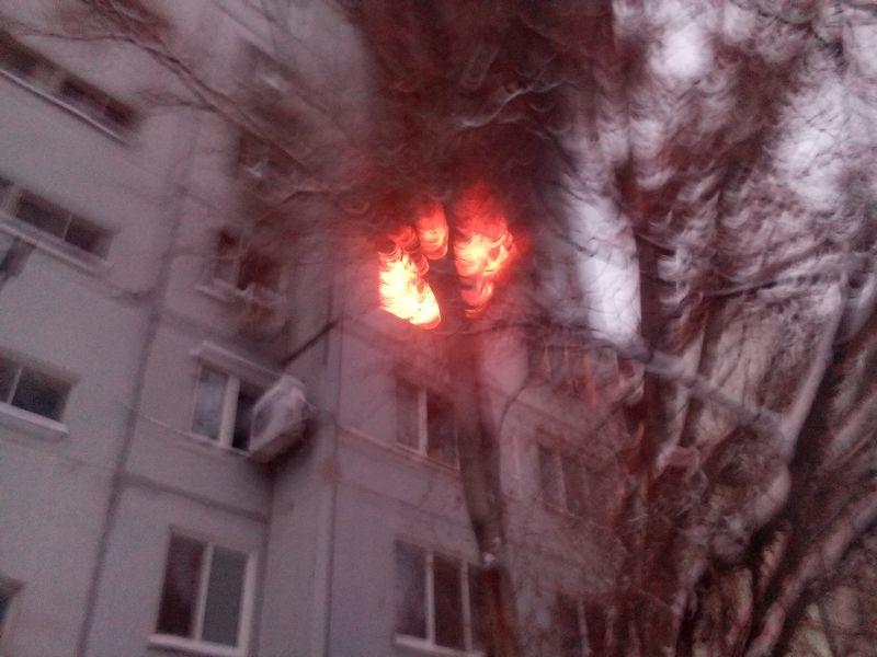 В Южноукраинске горела квартира в девятиэтажке