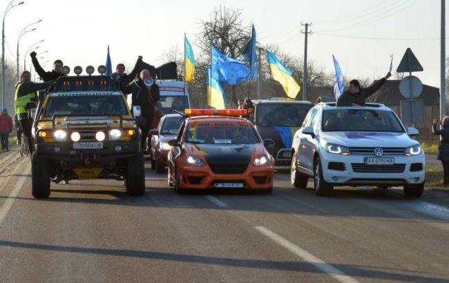 Дело Насирова: активисты Автомайдана заблокировали выезд из суда