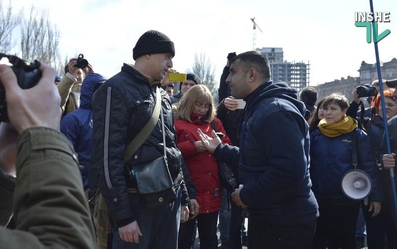 В Николаеве на митинге против тарифов ЖКХ произошли столкновения