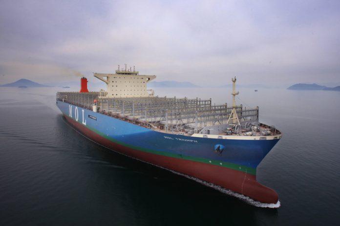 В Южной Корее по заказу Японии построили крупнейший в мире контейнеровоз