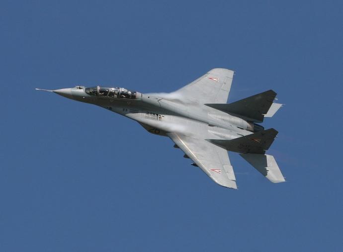 В РФ упал истребитель МиГ-29СМТ, пилот погиб