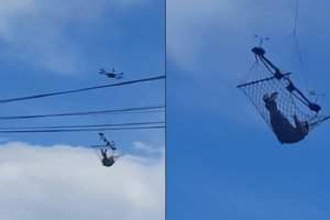 Мимино, хорошо летим! В Грузии гамак привязали к дрону