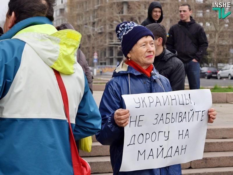 «Бойцы вспоминали минувшие дни»: в Николаеве отметили третью годовщину разгона антимайдана