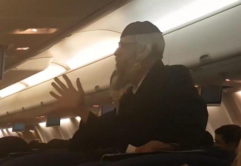 Ортодокс на час задержал вылет самолета из Киева в Израиль — требовал убрать телевизоры. Нашли соломоново решение