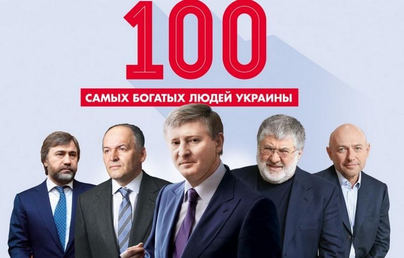 Рейтинг 100 самых богатых людей Украины по итогам 2016 года  вновь возглавил Ринат Ахметов