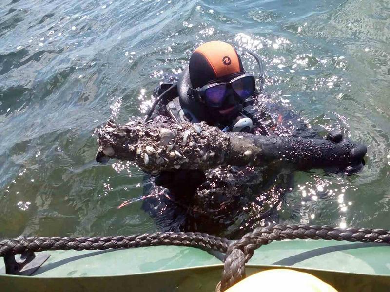 В Николаевской области завершен второй этап весенних работ по разминированию Кинбурнской косы – со дна Черного моря подняли 167 боеприпасов