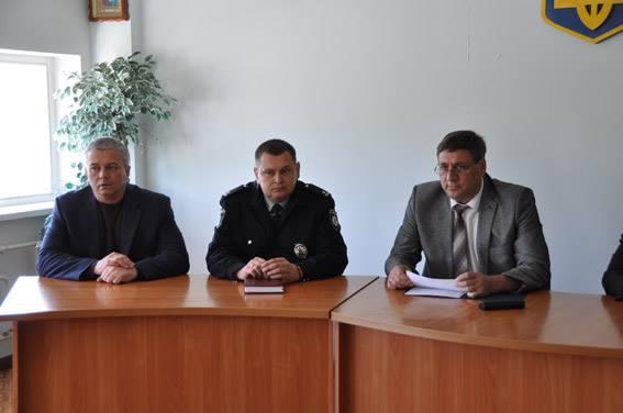 Личному составу Южноукраинского отделения полиции представлен новый руководитель