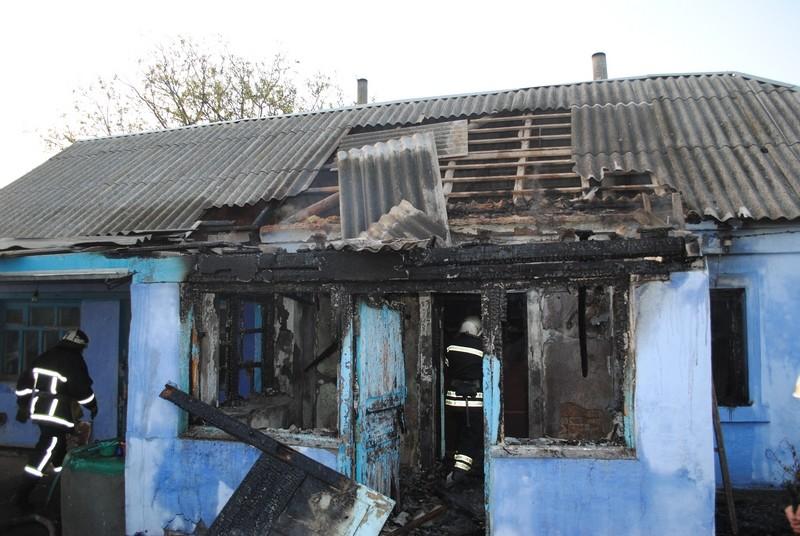 В Большой Коренихе в Николаеве горел жилой дом