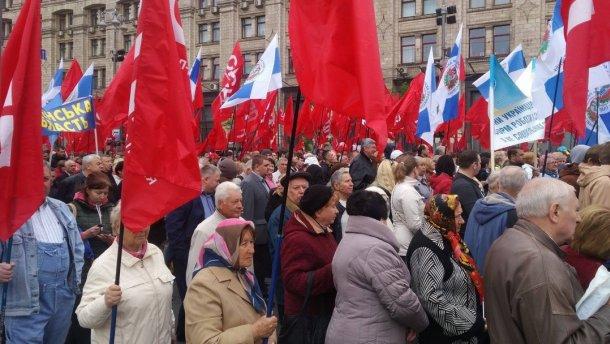 Первомай в Киеве оказался коммерческим мероприятием, но за мир, труд, май платили мало