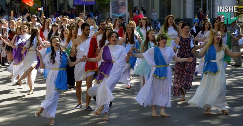 Николаев празднует День Европы: тысячи горожан вышли на «Европейское шествие»