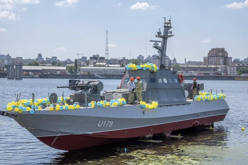 В Киеве спустили на воду очередную «Гюрзу-М», спроектированную николаевскими предприятиями