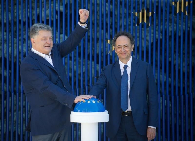 Президент Украины и глава Представительства ЕС в Украине запустили «таймер безвиза»