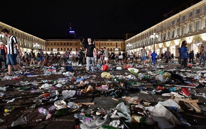 Количество пострадавших в Турине футбольных болельщиков увеличилось до 1500