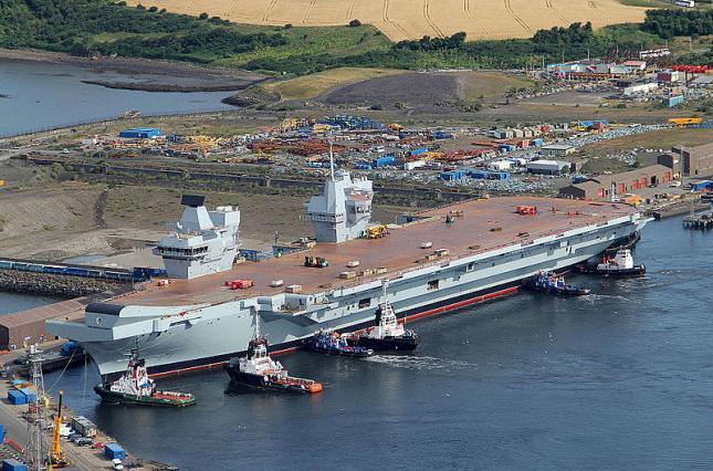 """""""Крупная цель"""". В РФ раскритиковали новый британский авианосец. Говорят, «Адмирал Кузнецов» круче"""