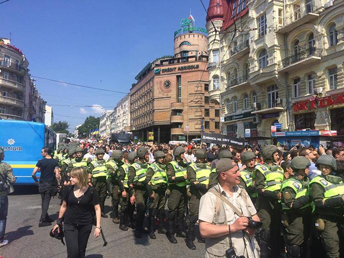 Двое полицейских получили травмы во время Марша равенства
