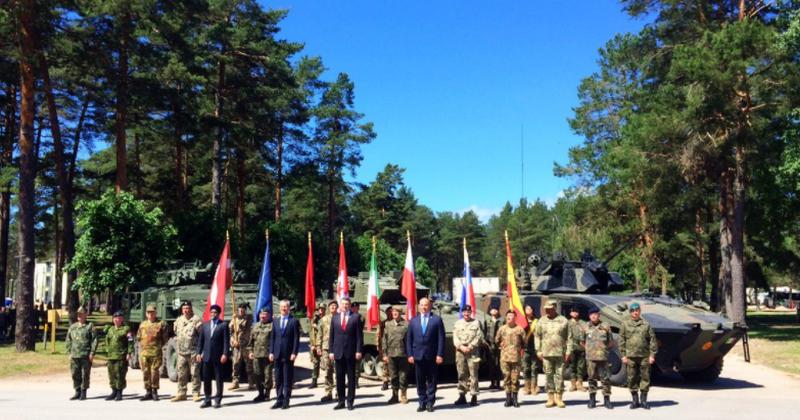 В Латвии официально начал действовать батальон НАТО численностью более 1000 человек