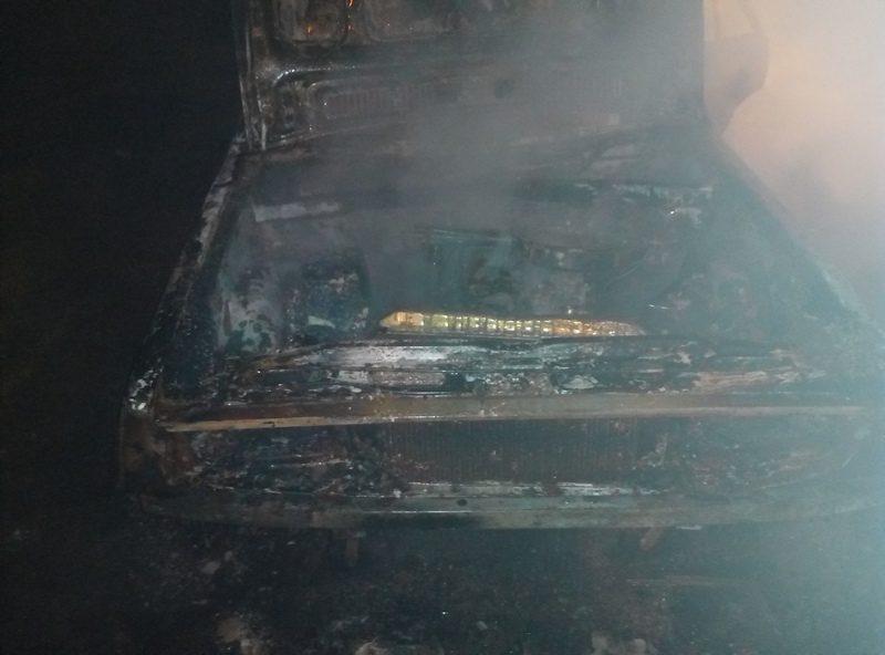 В Веселиновском районе загорелся автомобиль – «коротнула» электропроводка