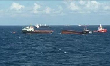 Судно, возившее сырье в Крым, потерпело крушение у входа в Босфор