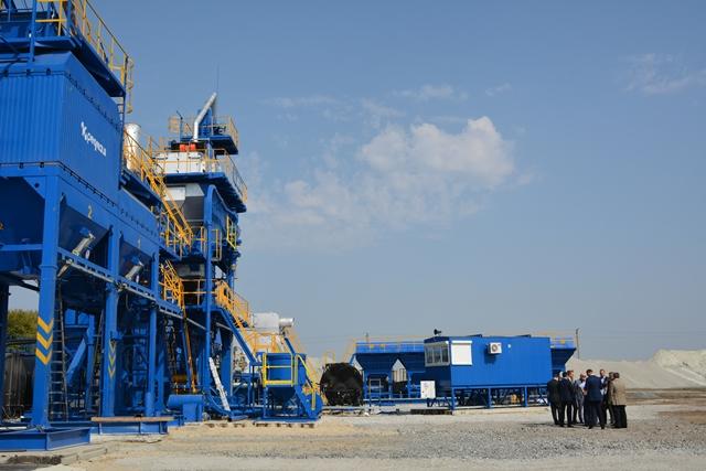 Завидуем молча. В Днепропетровской области запустили передвижной асфальтобетонный завод