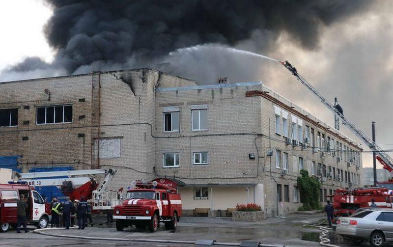 В Харькове горел завод по производству упаковочных материалов