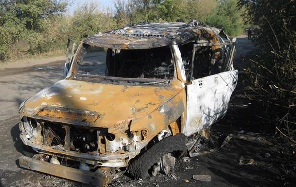 На Харьковщине джип уничтожили из гранатомета