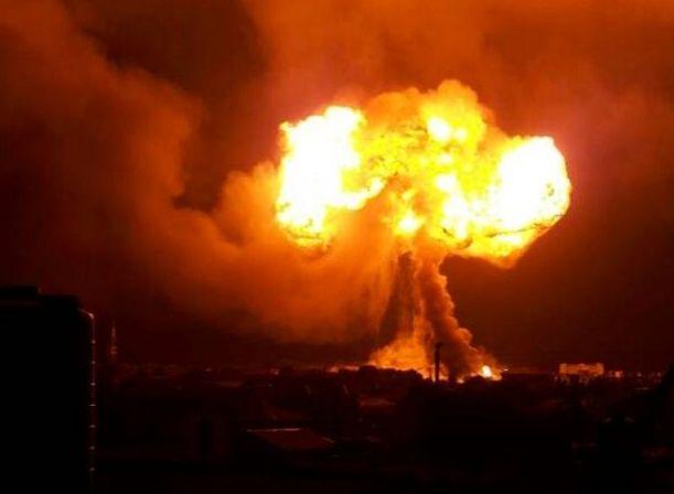 Мощный взрыв произошел на станции сжиженного газа в Гане