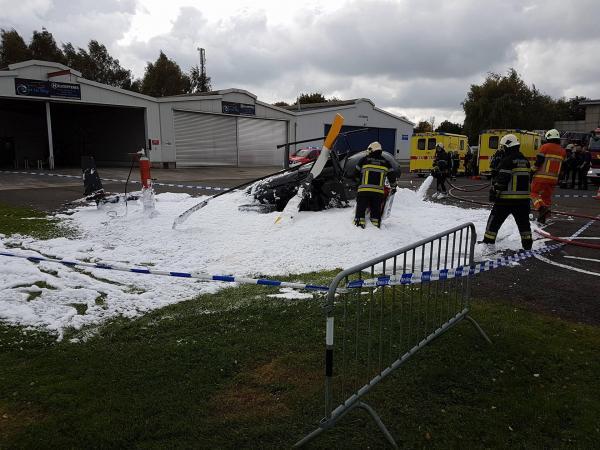 В Бельгии разбился частный вертолет.Пострадало 4 человека
