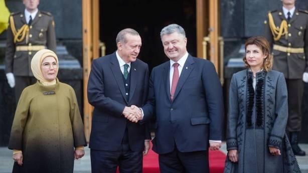 В Киеве начались переговоры между Порошенко и Эрдоганом
