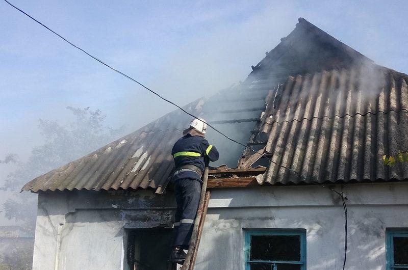 За сутки спасатели Николаевщины трижды ликвидировали пожары жилых домов