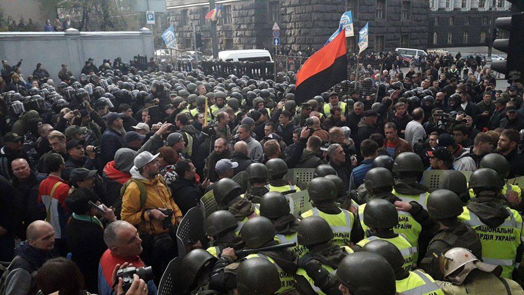 ВМВД допускают наличие оружия уактивистов— Протесты под Радой