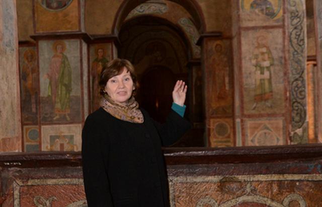 Сенсация. В Софии Киевской под толстым слоем краски — старинные фрески