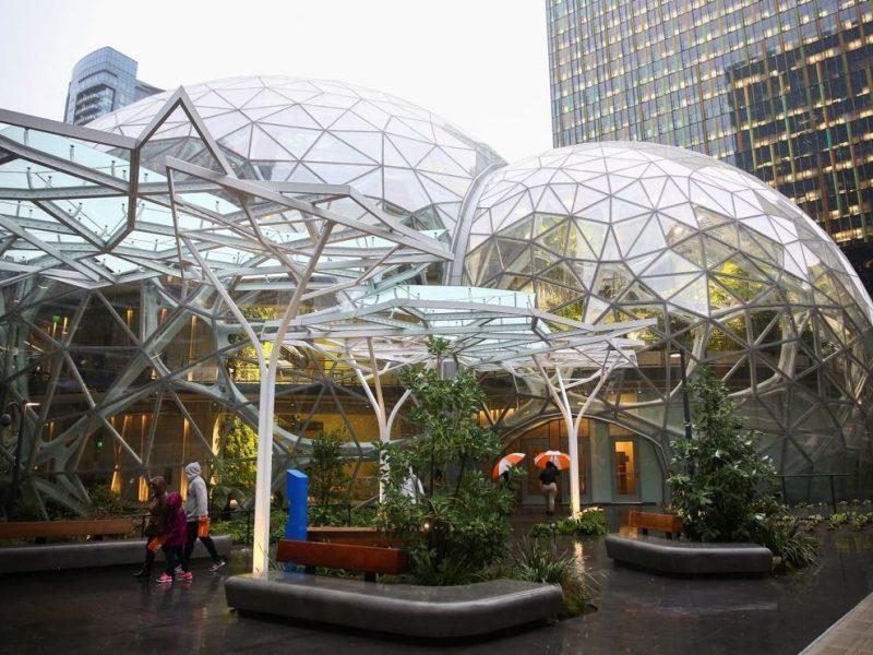 Amazon открыла джунгли-офис – там на каждого сотрудника по 40 растений