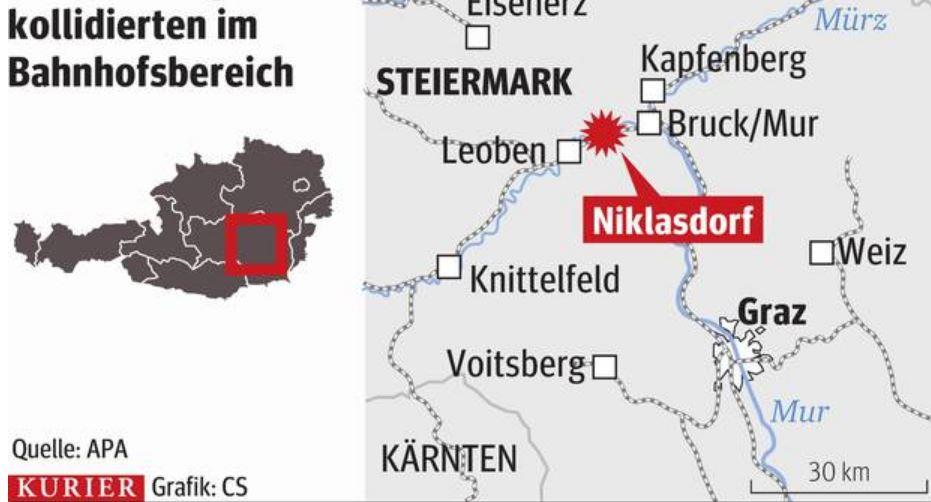 ВАвстрии умер пассажир в итоге столкновения поездов
