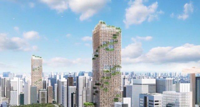 Деревянный небоскреб построят в Токио – 70 этажей