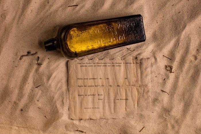 ВАвстралии найдено самое старое письмо вбутылке