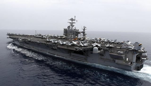 """Ударная группа ВМС США во главе с авианосцем """"Гарри Трумэн"""" выдвинулась в Средиземное море"""