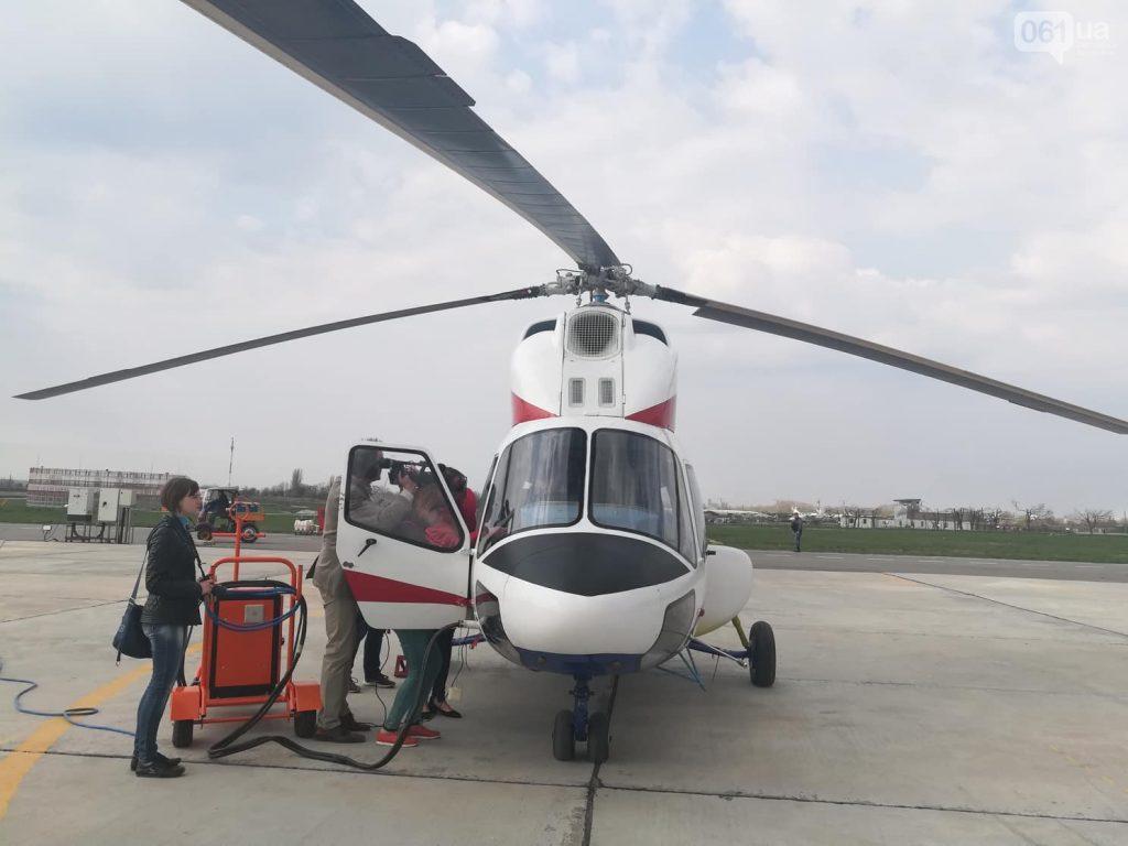 ВЗапорожье испытали 1-ый  украинский вертолет: размещено  зрелищное видео