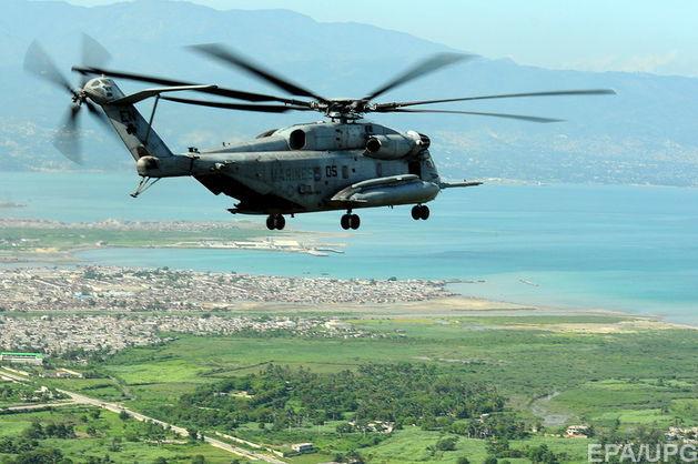 В Калифорнии упал военный вертолет, экипаж погиб