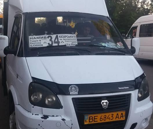 Пассажиры маршрутки в Николаеве вызвали полицию, когда водитель отказался везти участника АТО
